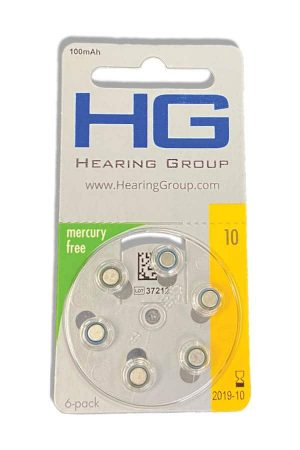 Size 10 hearing aid battery pack