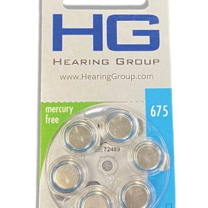 Size 675 hearing aid battery pack