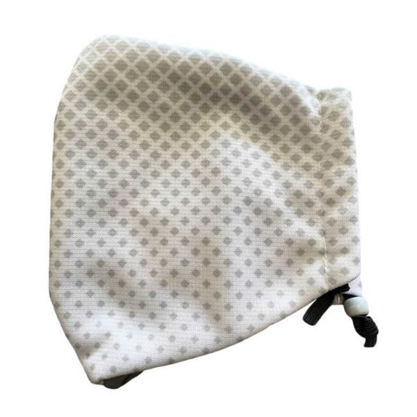 Plain grey hearing aid friendly mask