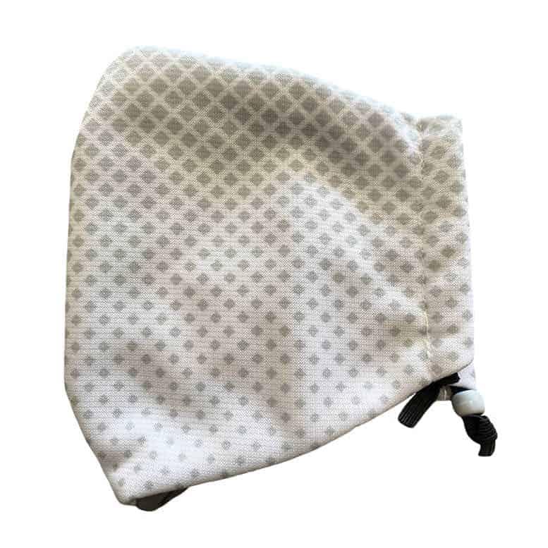 Plain grey hearing aid friendly mask