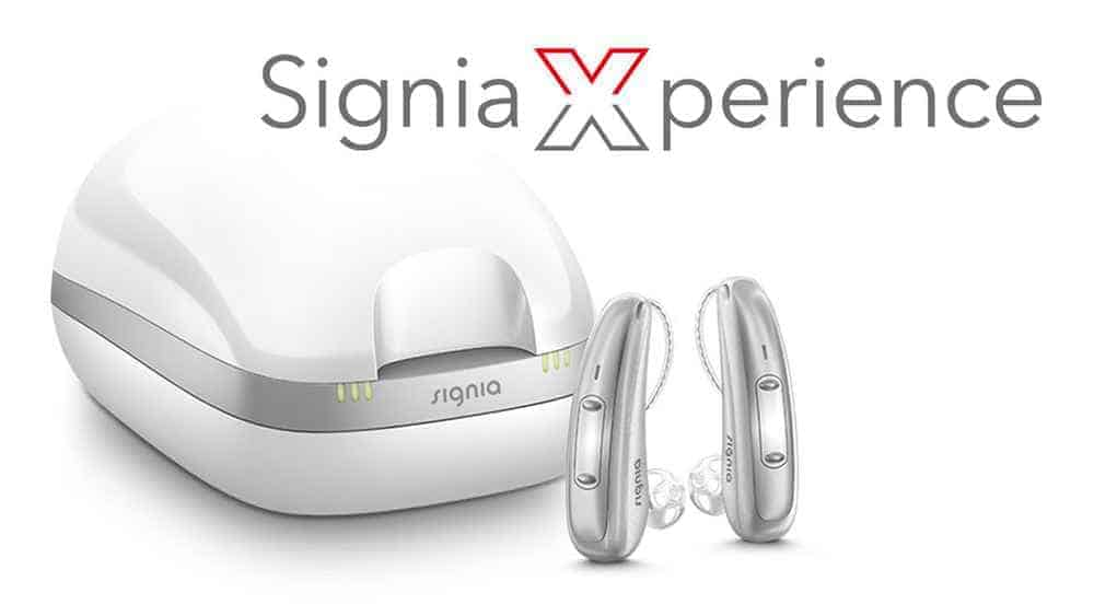 signia-xperience hearing aids with charger